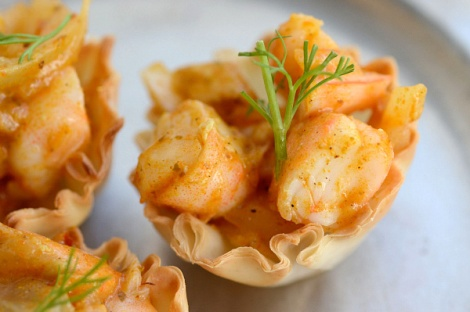 Curry Shrimp Canape